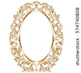 golden oval vintage border... | Shutterstock .eps vector #574740808
