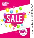 sale poster template. colorful... | Shutterstock .eps vector #574744666