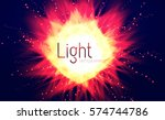 unusual explosion. colorful... | Shutterstock .eps vector #574744786