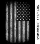 american grunge flag. an... | Shutterstock .eps vector #574746382