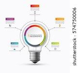 lightbulb infographic template... | Shutterstock .eps vector #574750006
