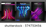 abstract cover design with... | Shutterstock .eps vector #574753456