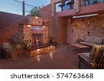 outdoor living space with... | Shutterstock . vector #574763668