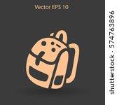 backpack vector illustration   Shutterstock .eps vector #574763896