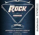 rock forever font script ...   Shutterstock .eps vector #574785112