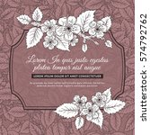 vintage floral illustration...   Shutterstock .eps vector #574792762