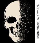 skull t shirt graphic design | Shutterstock .eps vector #574794676