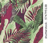 vector  seamless  tropical ... | Shutterstock .eps vector #574795138