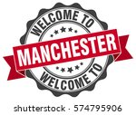 manchester. welcome to... | Shutterstock .eps vector #574795906