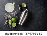 margarita cocktail on dark... | Shutterstock . vector #574799152