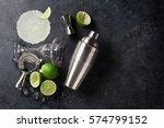 Margarita Cocktail On Dark...