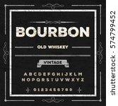 bourbon vintage font... | Shutterstock .eps vector #574799452