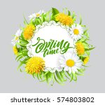 inscription spring time on... | Shutterstock .eps vector #574803802