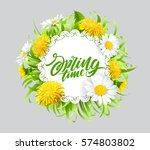 inscription spring time on... | Shutterstock .eps vector #574803802