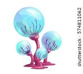 fantasy cartoon mushroom. magic ... | Shutterstock .eps vector #574811062