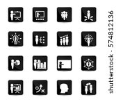 business training icon set | Shutterstock .eps vector #574812136