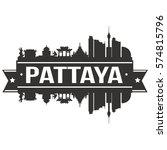 pattaya skyline stamp city... | Shutterstock .eps vector #574815796