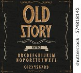 vintage font handcrafted vector ... | Shutterstock .eps vector #574818142