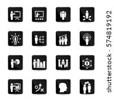 business training icon set | Shutterstock .eps vector #574819192