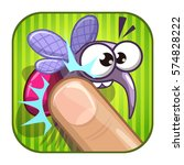 funny comic app icon with...