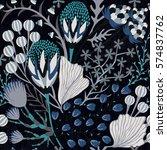 floral seamless pattern. hand...   Shutterstock .eps vector #574837762
