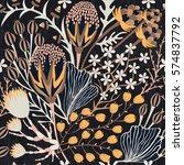 floral seamless pattern. hand... | Shutterstock .eps vector #574837792