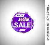 sale up to 30  off banner sign... | Shutterstock .eps vector #574839862