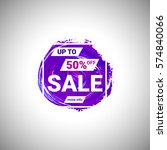 sale up to 50  off banner sign... | Shutterstock .eps vector #574840066