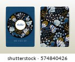 cover design with floral... | Shutterstock .eps vector #574840426