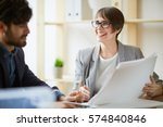 successful businesswoman...   Shutterstock . vector #574840846