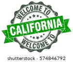 california. welcome to... | Shutterstock .eps vector #574846792