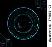 futuristic graphic user... | Shutterstock .eps vector #574855408