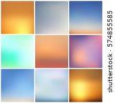 set of nine modern backgrounds. ... | Shutterstock .eps vector #574855585