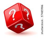 vector illustration of dice...   Shutterstock .eps vector #57485986