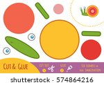 education paper game for... | Shutterstock .eps vector #574864216