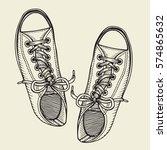 vector sketch illustration ... | Shutterstock .eps vector #574865632