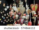 christmas market in the center... | Shutterstock . vector #574866112