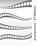 film strip  vector background... | Shutterstock .eps vector #57486631