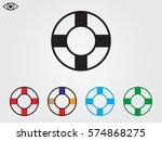 lifebuoy  icon  vector... | Shutterstock .eps vector #574868275