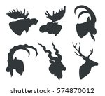 image silhouettes heads animals ...   Shutterstock .eps vector #574870012