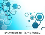 abstract color digital... | Shutterstock .eps vector #574870582