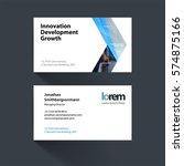 vector business card template... | Shutterstock .eps vector #574875166