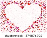 white heart frame from small... | Shutterstock .eps vector #574876702