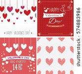 happy valentines day cards and... | Shutterstock .eps vector #574883986