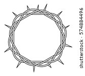 Crown Of Thorns Icon. Outline...