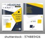 business vector set. brochure... | Shutterstock .eps vector #574885426