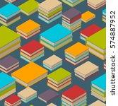 seamless pattern of new 3d... | Shutterstock .eps vector #574887952