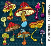 set of stylized colored... | Shutterstock .eps vector #574888102