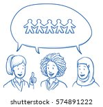 group of three of different... | Shutterstock .eps vector #574891222