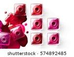 nail art concept. fine art...   Shutterstock . vector #574892485